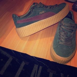 Fenty x Wmns suede creeper 'Green Bordeaux'